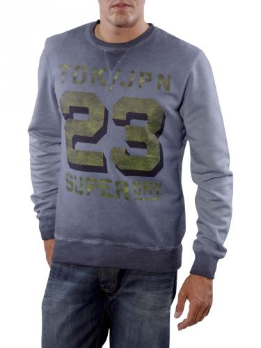 Superdry Number Drop Crew rinsed navy