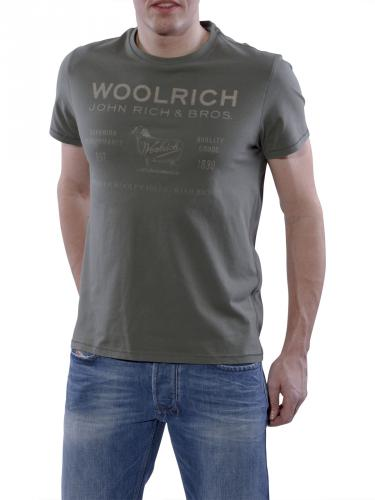 Woolrich Label Tee green