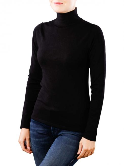 Yaya Col Fitted Sweater black