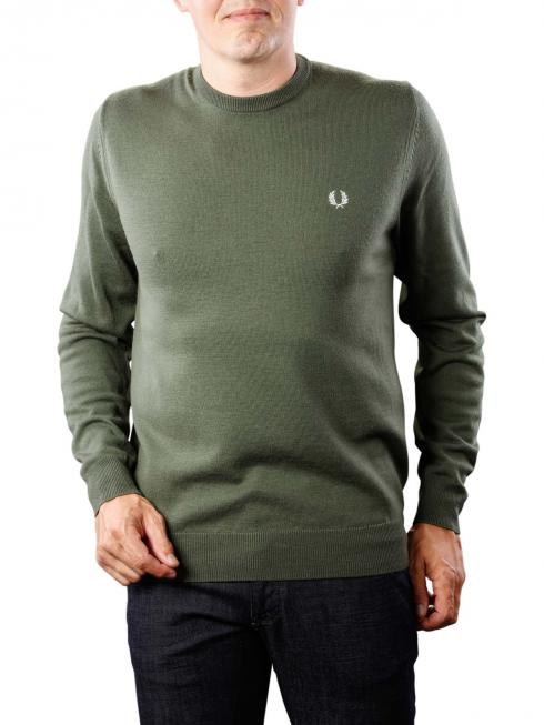 Fred Perry Classic Crew Neck Sweater dark fern