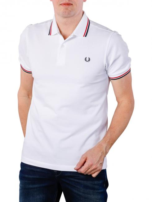 Fred Perry Twin Tipped Shirt white/red/navy
