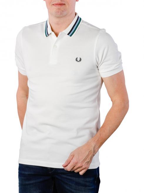 Fred Perry Bomber Stripe Piqué Shirt snow white