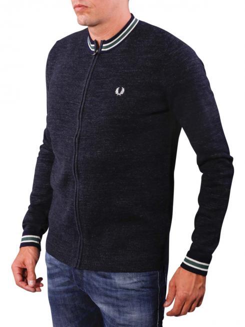Fred Perry Budding Yarn Zip Sweater blue granite