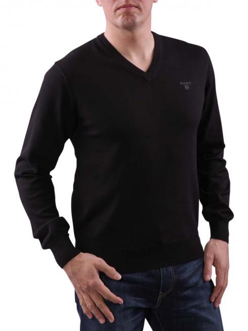 Gant Light Weight Cotton V-Neck black