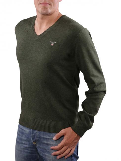 Gant Stretch Cotton Sweater hunter dark Hunter green