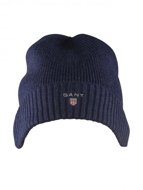 Gant Cotton Knit Beanie dark indigo melange
