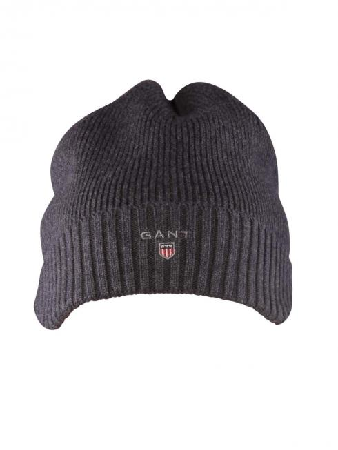 Gant Cotton Knit Beanie With Fleece antracit melange