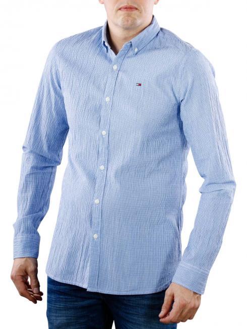 Tommy Jeans Essential Seersucker Shirt nautical blue