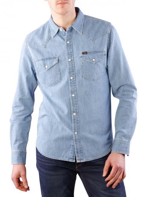 Lee Slim Western Shirt stone bleach