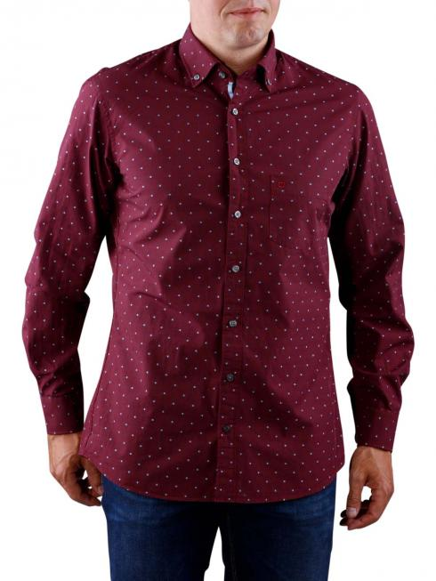 Olymp Casual Shirt dark red blue