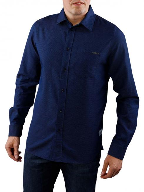Pepe Jeans Jayden Ticking Stripe Shirt blue