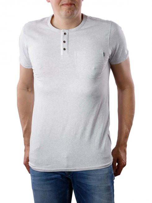 Scotch & Soda Short Sleeve Grandad T-Shirt light grey