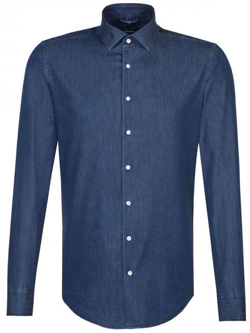 Seidensticker Shirt Shaped Fit Light Kent denim blue 19