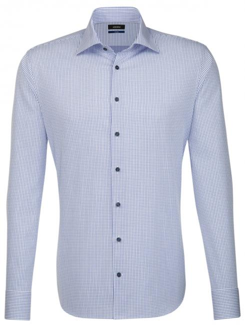 Seidensticker Shirt Shaped Fit Kent check blue/w