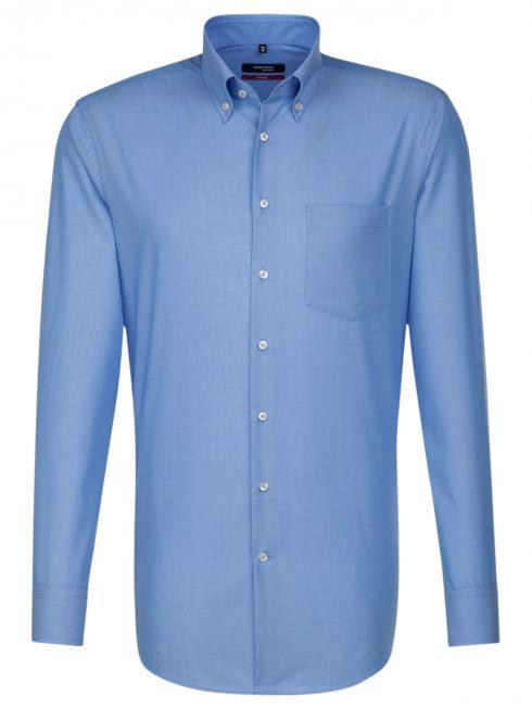 Seidensticker Shirt Regular Fit Button-down non iron blue