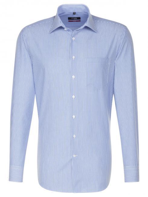 Seidensticker Shirt Regular Fit Kent non iron stripe blue/w