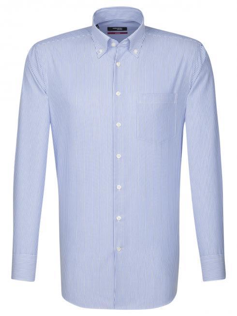 Seidensticker Shirt Regular Fit Button-down non iron striped