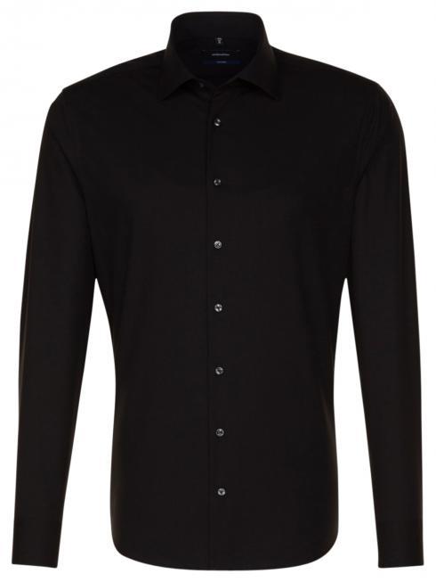 Seidensticker Shirt Shaped Fit Kent non iron black