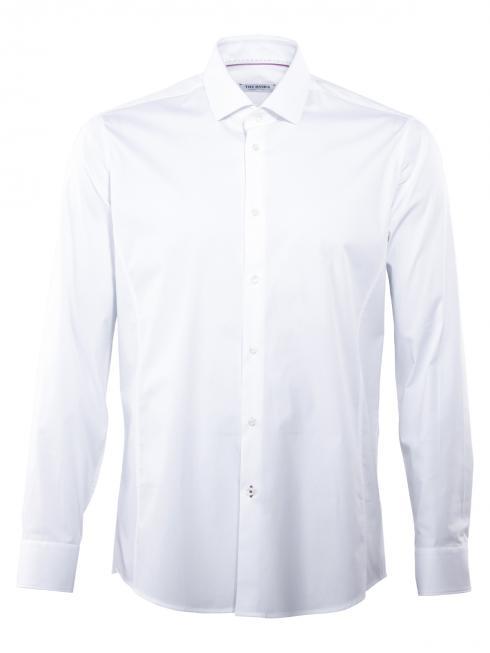 THE BASICS Hemd Body Fit Hai bügelleicht white