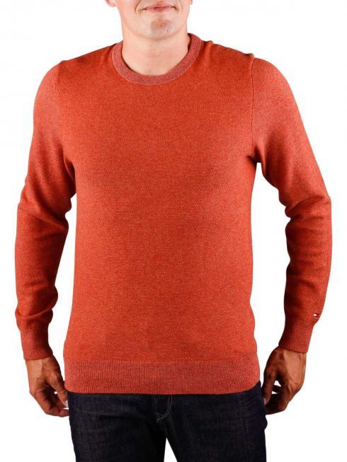 Tommy Hilfiger Wool Blend Textured Sweater rooibos tea