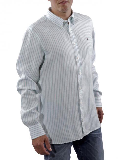 Tommy Rev Linen Shirt Turquoise/white