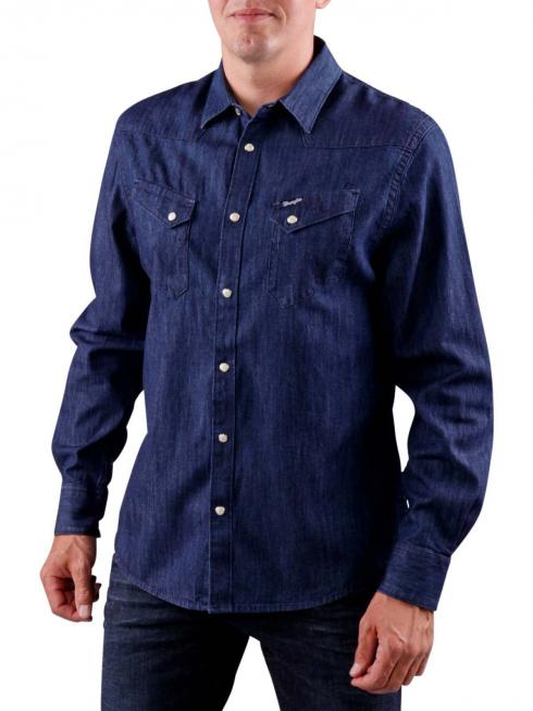 Wrangler Denim Shirt dark indigo