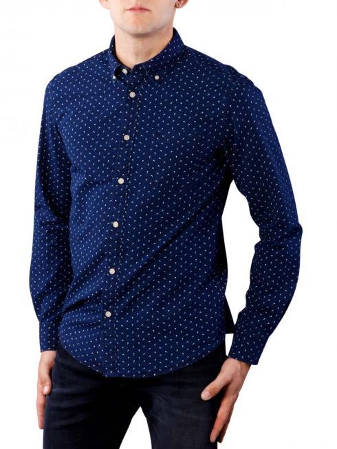 Wrangler 1 Pkt Button Down Shirt dark indigo