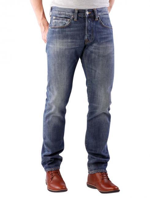 Edwin ED-55 Jeans Dark Blue Denim grime dirt wash