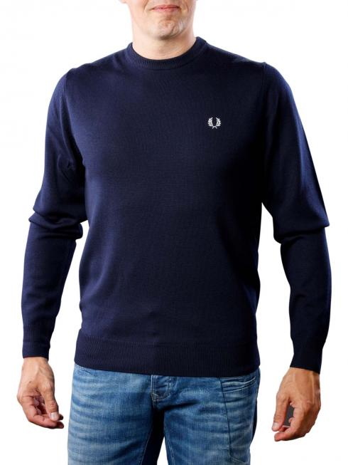 Fred Perry Classic Crew Neck Sweater dark carbon