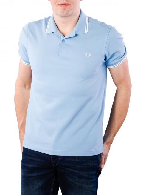 Fred Perry Twin Tipped Shirt sky/snow white