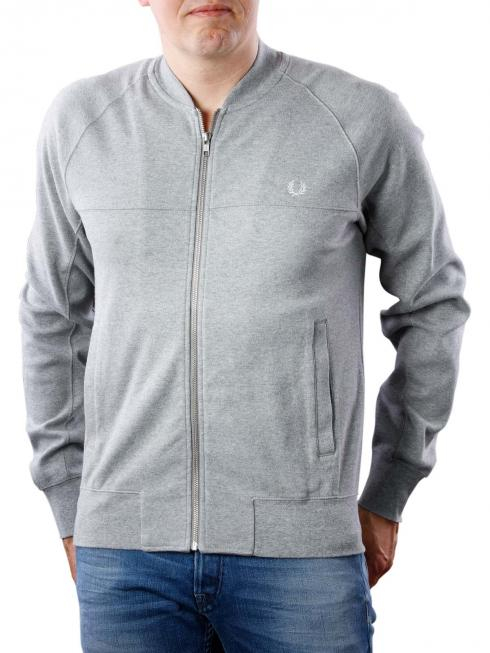 Fred Perry Panelled Bomber Neck Sweat steel marl