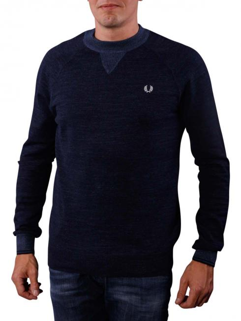 Fred Perry Budding Yarn Tipped Sweat navy marl