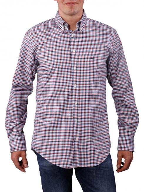 Fynch-Hatton Combi Check Shirt wine