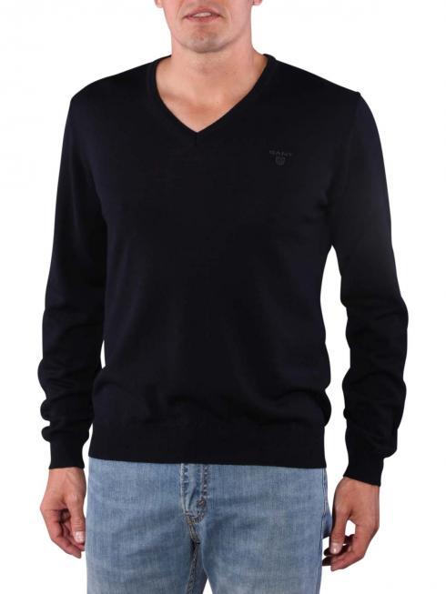 Gant Solid Merinowool Sweater navy