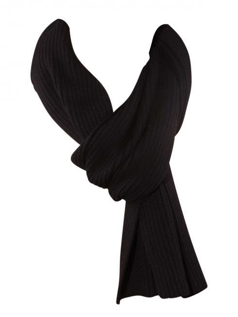 Gant Cotton Rib Knit Scarf black