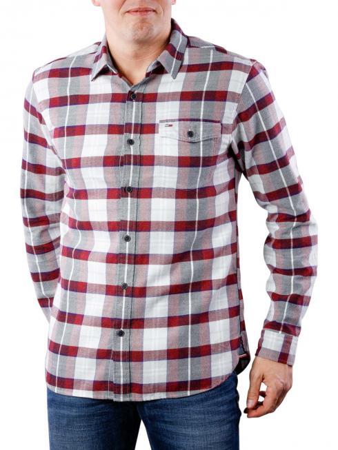 Tommy Jeans Reg Check Shirt salsa multi