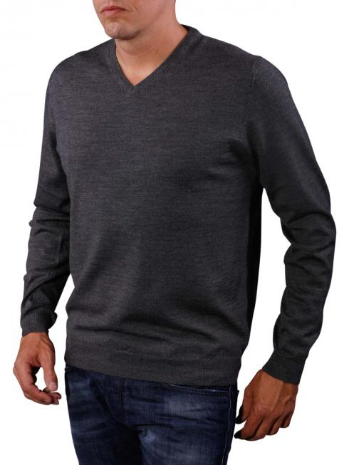 Fynch-Hatton V-Neck Smart Sweater grey