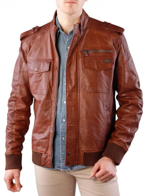 Pepe Jeans Conroy Leather Perforation Mix cognac