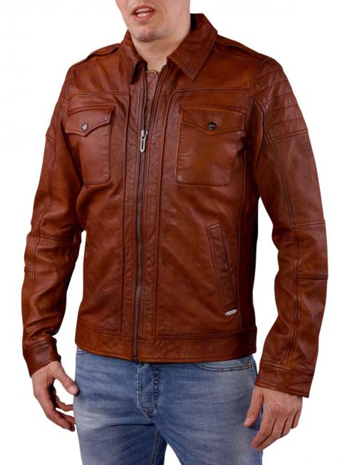 Pepe Jeans Murray Waxed Sheep Leather cognac