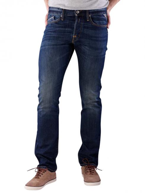 Replay Waitom Jeans Regular Slim Deep Blue Denim rinse