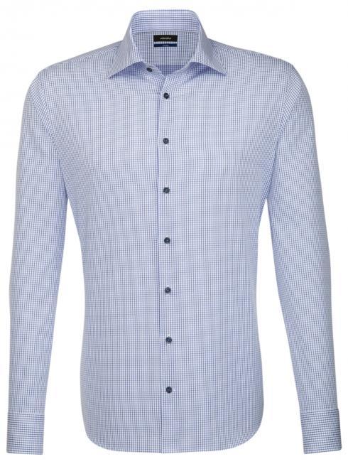 Seidensticker Hemd Shaped Fit Kent check blue/w