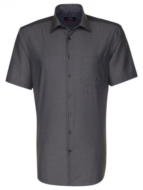 Seidensticker Hemd Regular Fit Kent bürgelfrei grey
