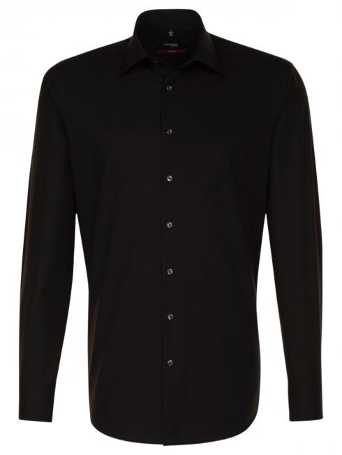 Seidensticker Shirt Regular Fit Kent Non Iron black