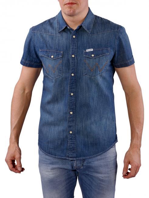 Wrangler Western Shirt mid indigo