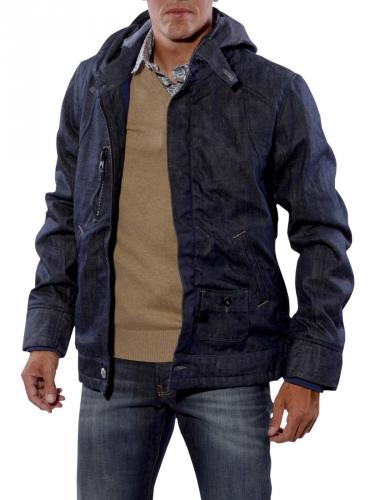 G-Star New Comic Hooded Jacket Border Denim tumble raw