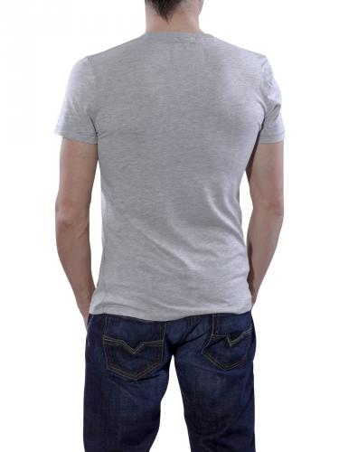 Superdry Team Eagle Flock Tee grey marl