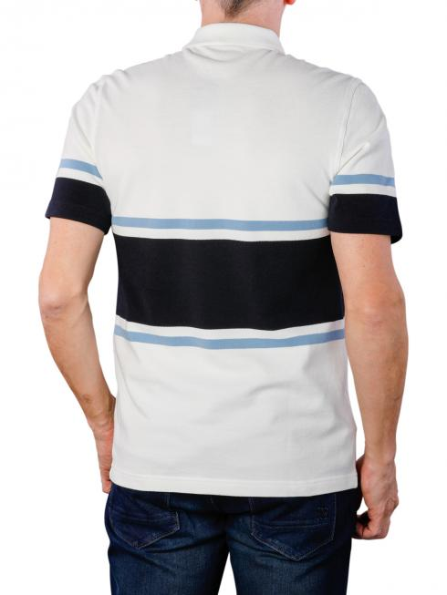 Fred Perry Bold Fine Stripe Piqué Shirt snow white