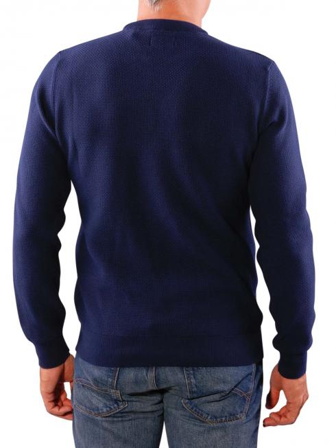 Gant Texture Cotton Crew Pullover evening blue
