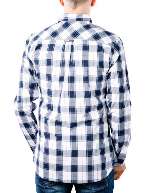 Tommy Jeans Essential Plaid Shirt white/multi