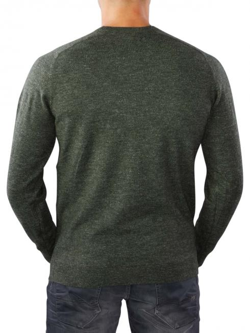Lee Textured Crew Knit forest green